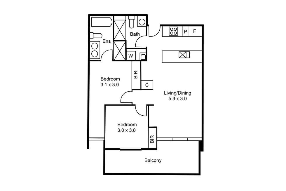 Floorplan of Homely apartment listing, 209/1 Norfolk Place, Malvern VIC 3144