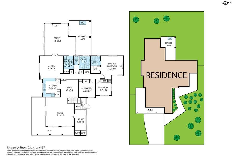 Floorplan of Homely house listing, 13 Merrick Street, Capalaba QLD 4157