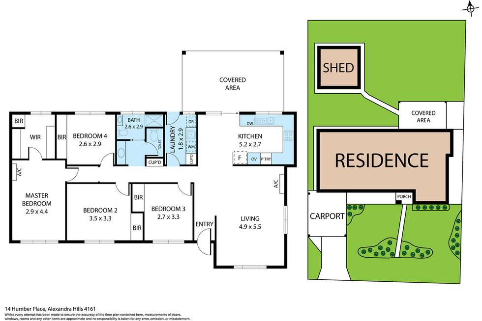 Floorplan of Homely house listing, 14 Humber Place, Alexandra Hills QLD 4161