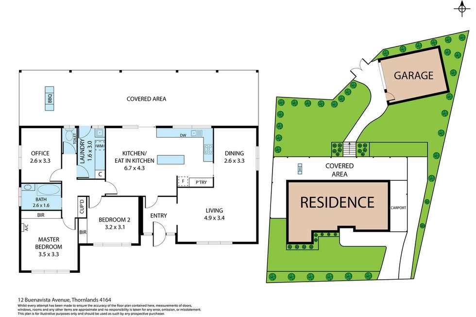 Floorplan of Homely house listing, 12 Buenavista Avenue, Thornlands QLD 4164