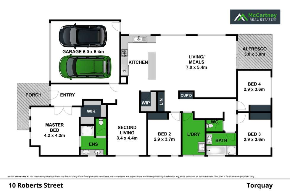 Floorplan of Homely house listing, 10 Roberts Street, Torquay VIC 3228