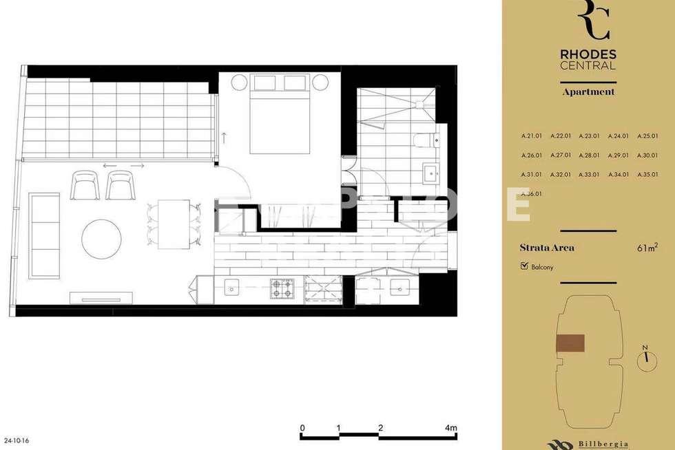 Floorplan of Homely apartment listing, 2501/8 Walker Street, Rhodes NSW 2138