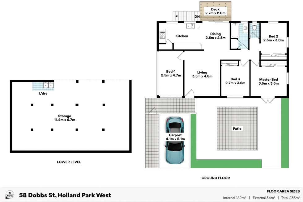Floorplan of Homely house listing, 58 Dobbs Street, Holland Park West QLD 4121
