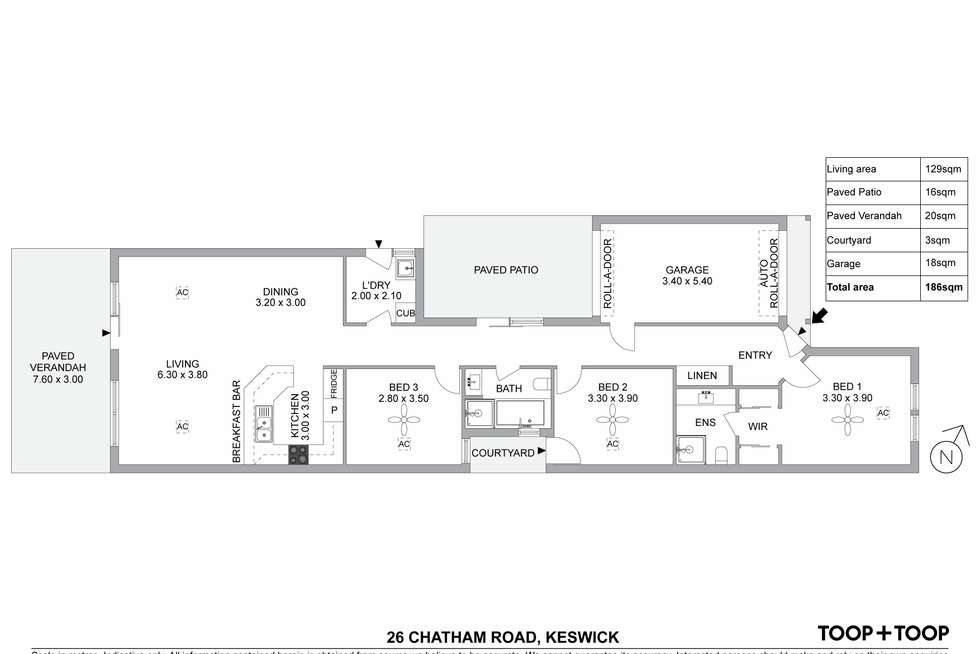 Floorplan of Homely house listing, 26 Chatham Road, Keswick SA 5035