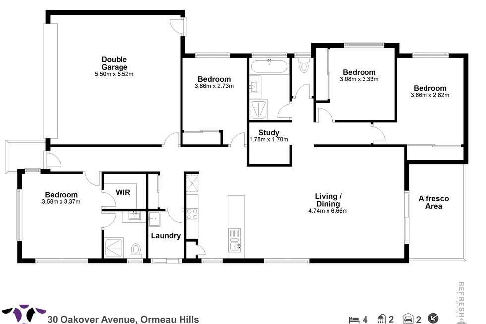 Floorplan of Homely house listing, 30 Oakover Avenue, Ormeau Hills QLD 4208