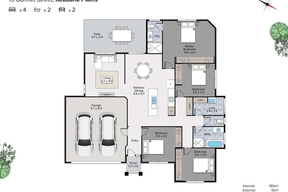 Floorplan of Homely house listing, 15 Gannett Street, Redbank Plains QLD 4301