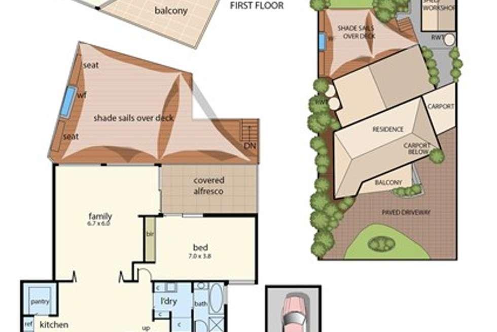 Floorplan of Homely house listing, 47 Austin Avenue, Mccrae VIC 3938