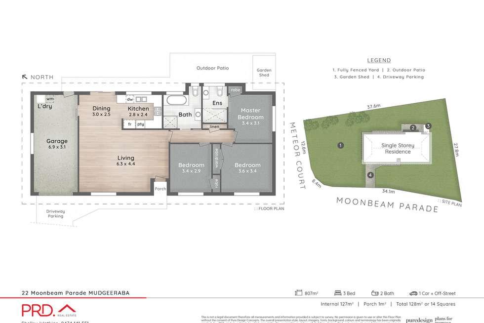 Floorplan of Homely house listing, 22 Moonbeam Parade, Mudgeeraba QLD 4213