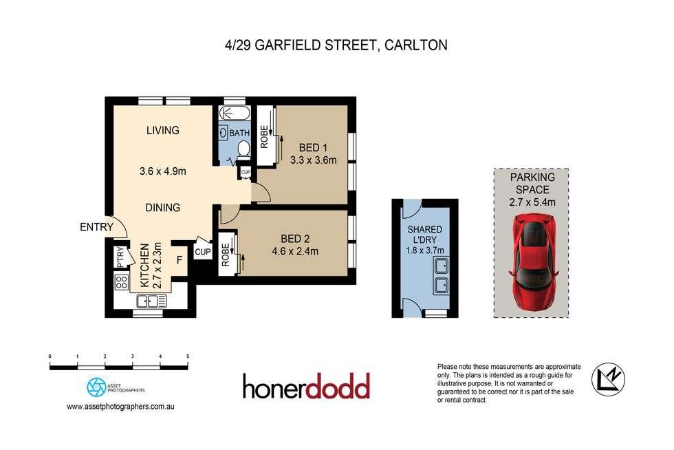 Floorplan of Homely apartment listing, 4/29 Garfield Street, Carlton NSW 2218