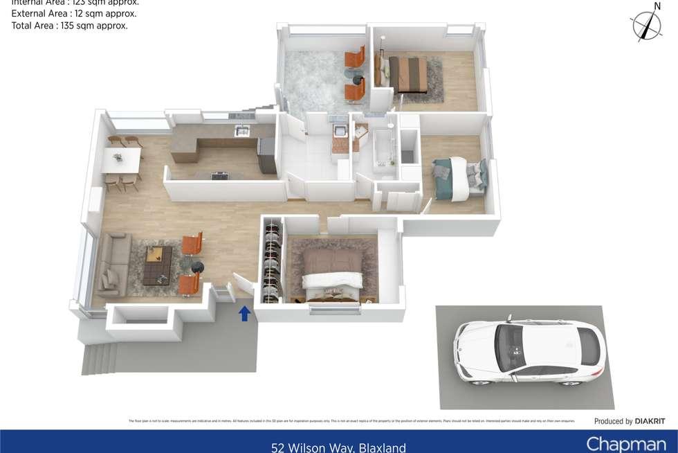 Floorplan of Homely house listing, 52 Wilson Way, Blaxland NSW 2774
