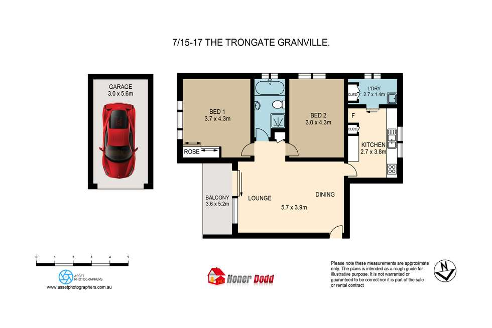 Floorplan of Homely apartment listing, 7/15-17 The Trongate, Granville NSW 2142