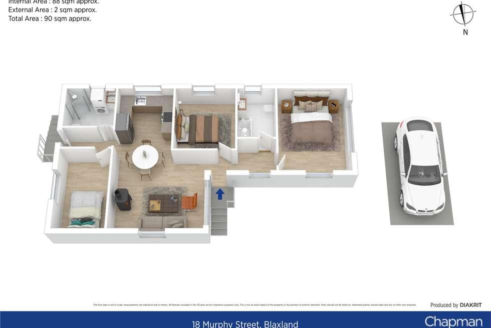 Floorplan of Homely house listing, 18 Murphy Street, Blaxland NSW 2774