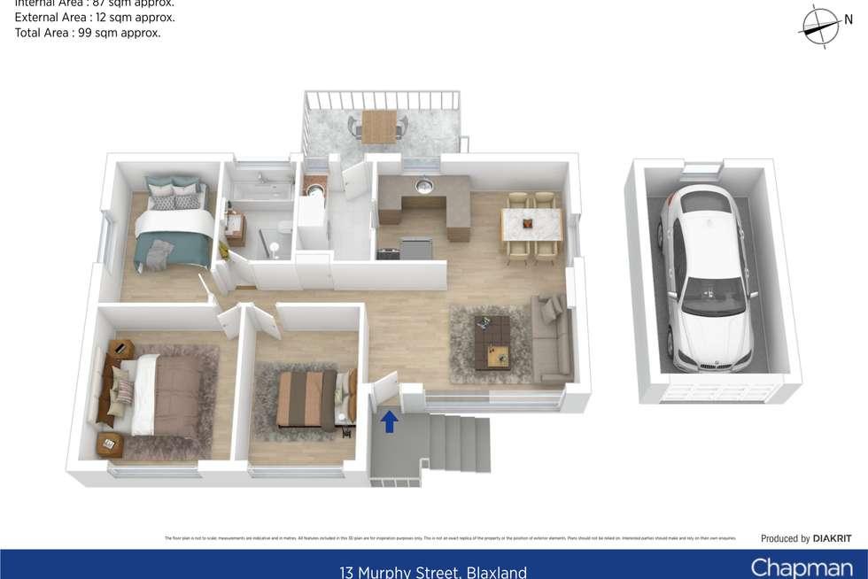 Floorplan of Homely house listing, 13 Murphy Street, Blaxland NSW 2774