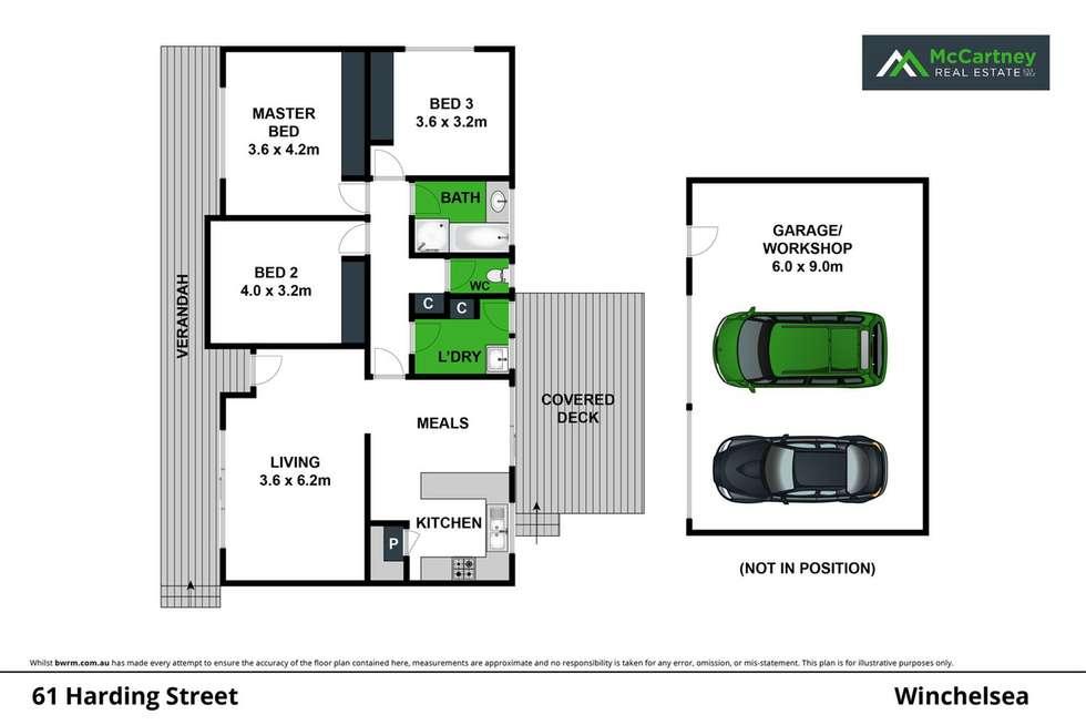 Floorplan of Homely house listing, 61 Harding Street, Winchelsea VIC 3241
