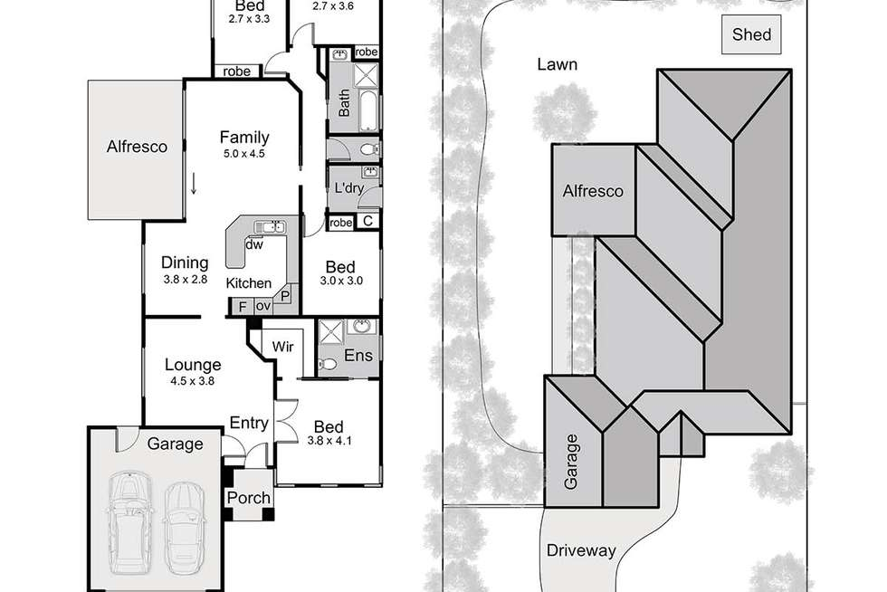 Floorplan of Homely house listing, 43 Tintagel Way, Mornington VIC 3931