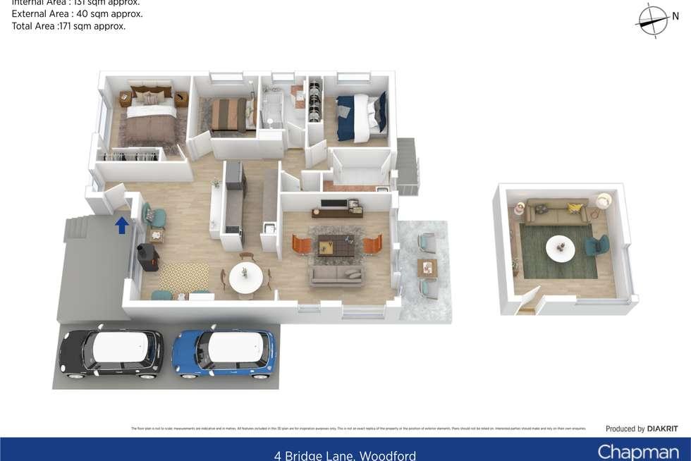 Floorplan of Homely house listing, 4 Bridge Lane, Woodford NSW 2778