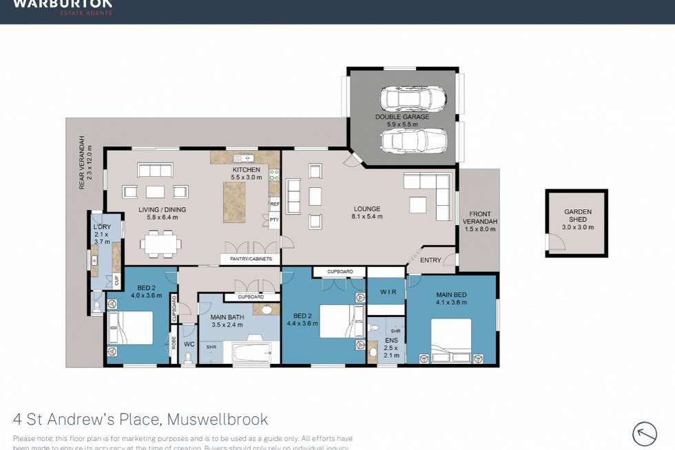 Floorplan of Homely house listing, 4 St Andrews Place, Muswellbrook NSW 2333