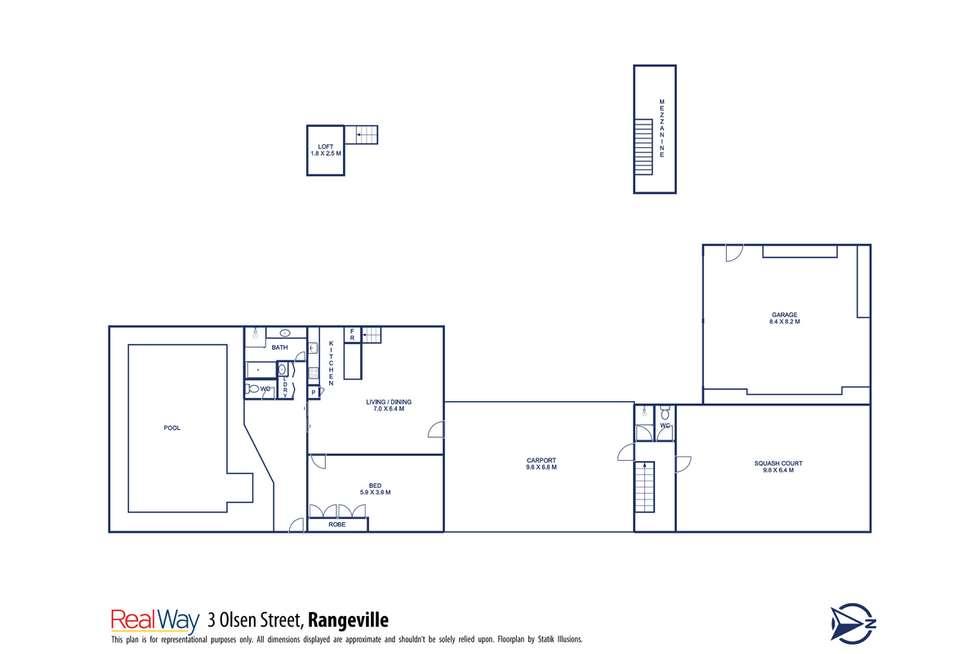 Floorplan of Homely house listing, 3 Olsen Street, Rangeville QLD 4350