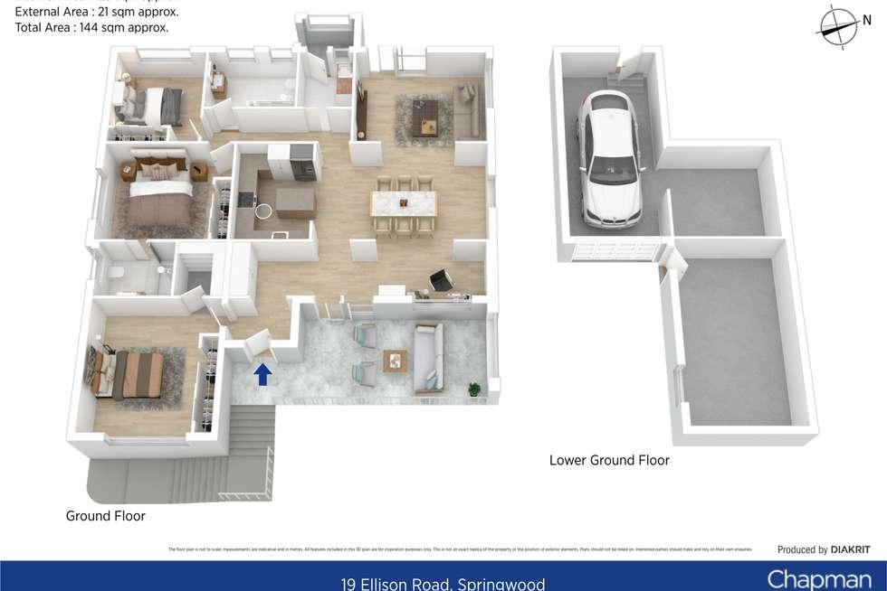 Floorplan of Homely house listing, 19 Ellison Road, Springwood NSW 2777