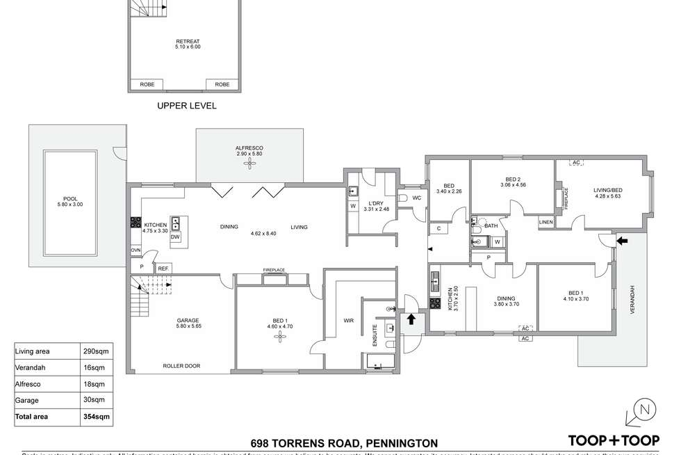 Floorplan of Homely house listing, 698 Torrens Road, Pennington SA 5013