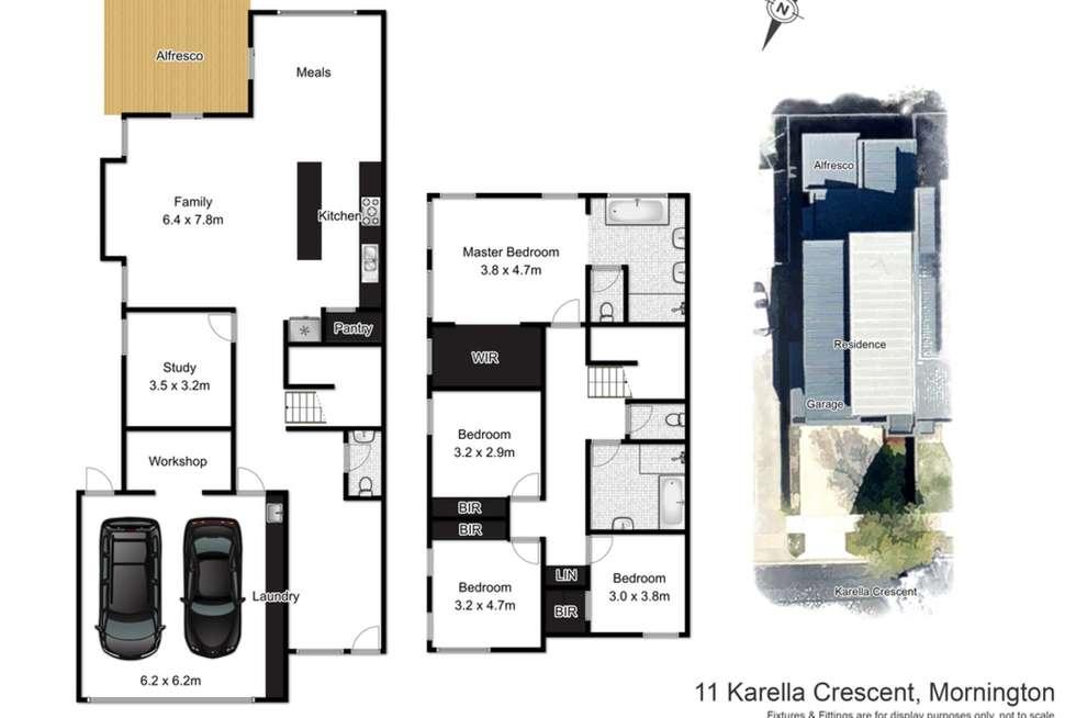 Floorplan of Homely townhouse listing, 11 Karella Crescent, Mornington VIC 3931