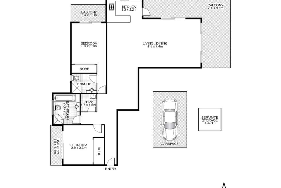 Floorplan of Homely apartment listing, 45/28 Brickworks Drive, Holroyd NSW 2142