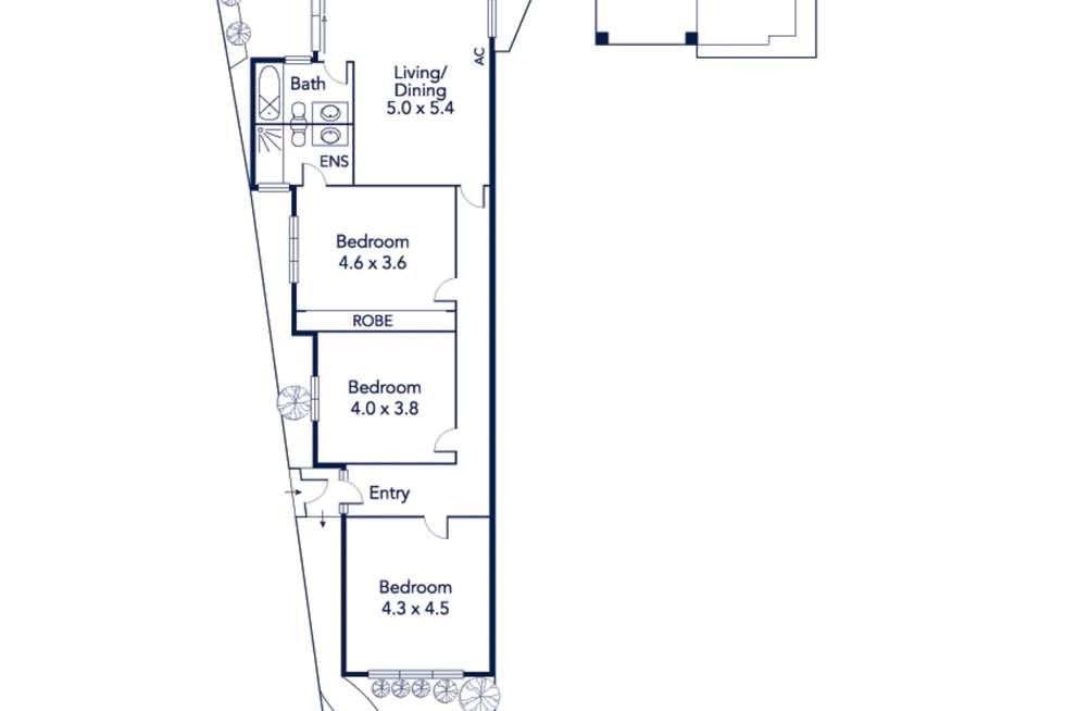 Floorplan of Homely house listing, 548 Macaulay Road, Kensington VIC 3031