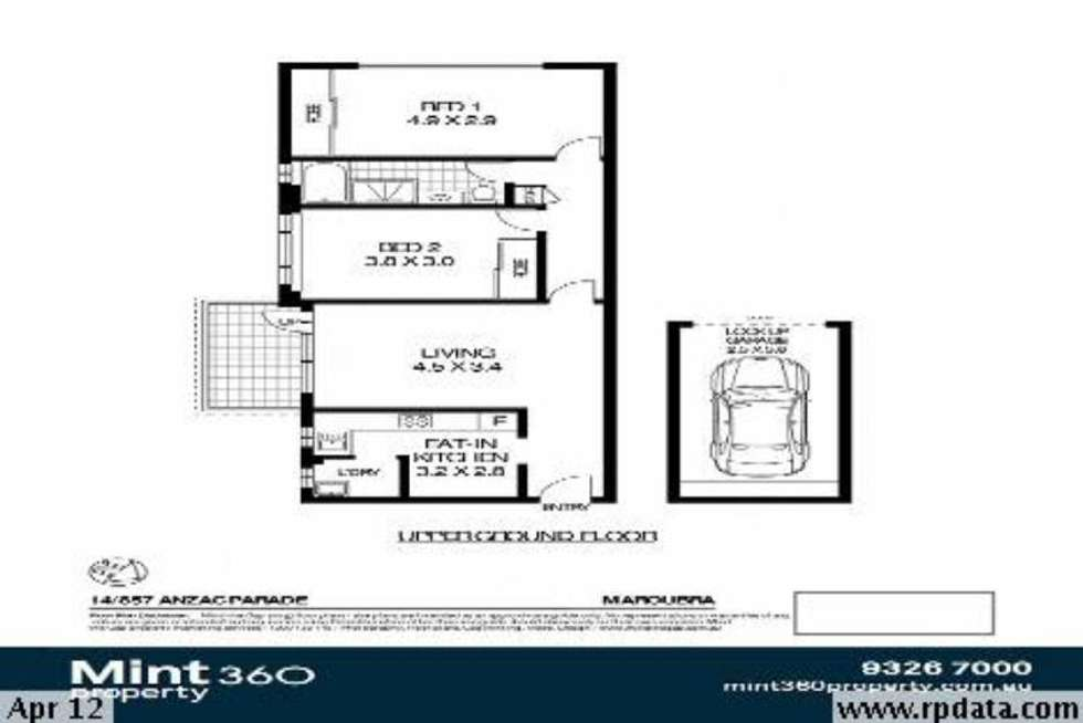 Floorplan of Homely apartment listing, 14/857 Anzac Parade, Maroubra NSW 2035