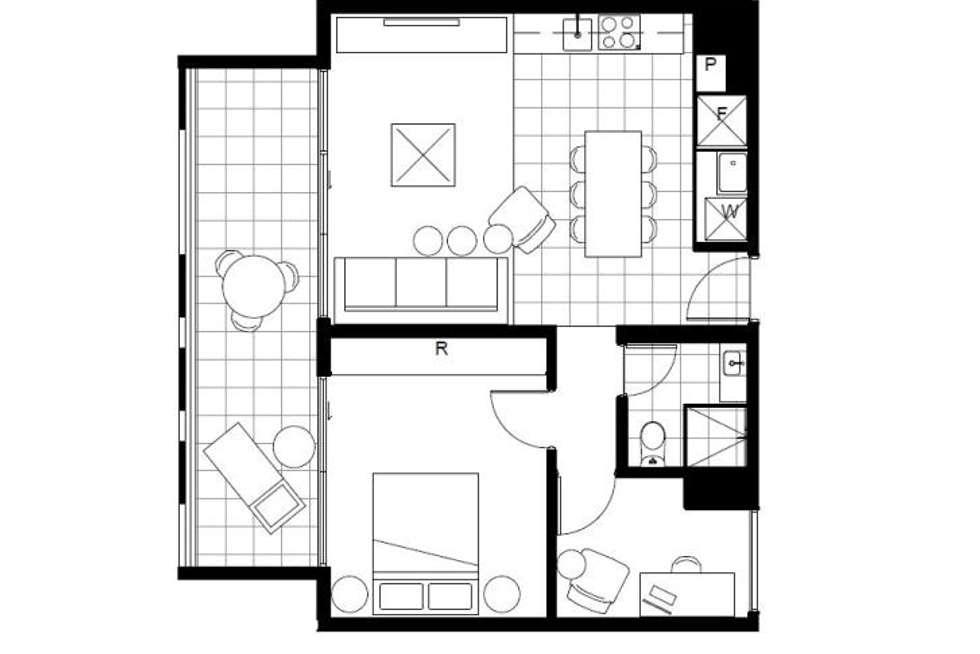 Floorplan of Homely apartment listing, 13/201 Barker Street, Randwick NSW 2031