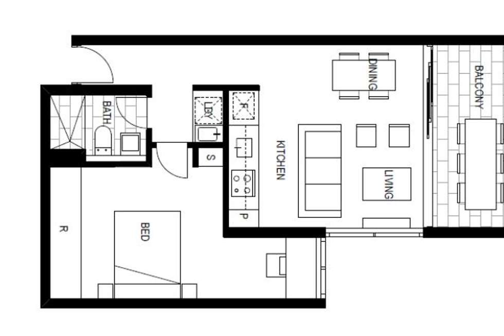Floorplan of Homely apartment listing, 213/159 Frederick Street, Bexley NSW 2207