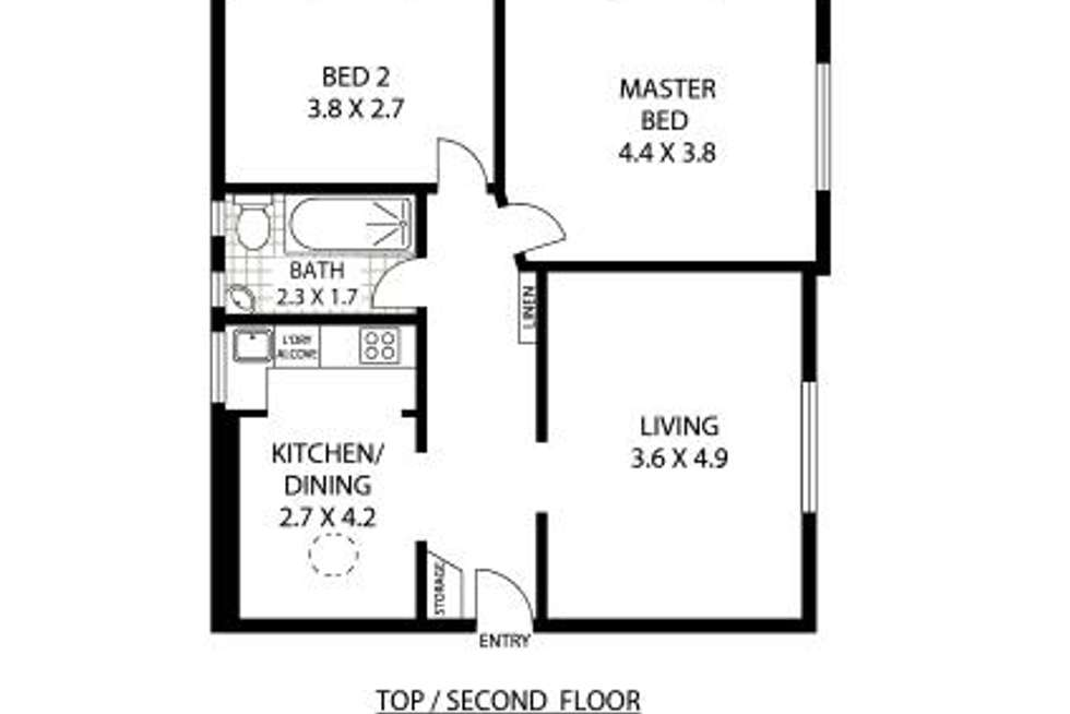 Floorplan of Homely apartment listing, 12/23 Waratah Avenue, Randwick NSW 2031