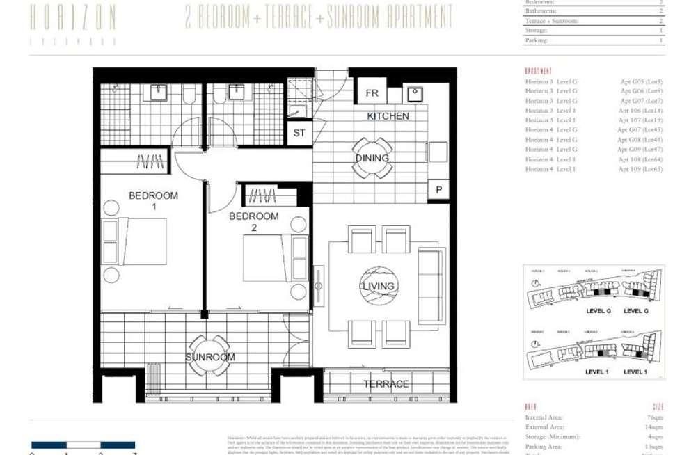 Floorplan of Homely apartment listing, H3, 107/78 Mobbs Lane, Eastwood NSW 2122