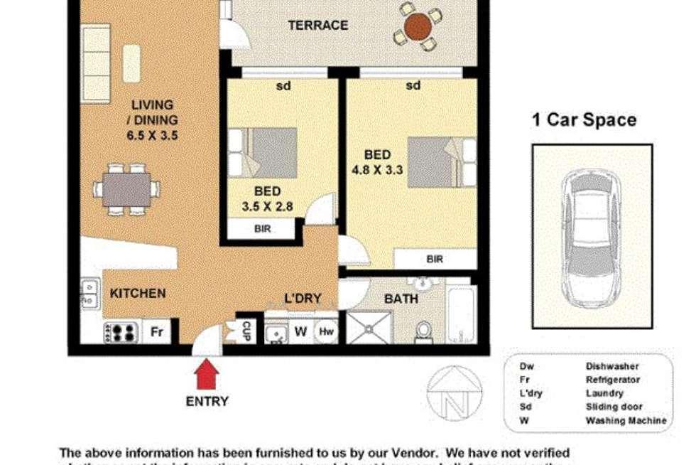 Floorplan of Homely apartment listing, 16/3-5 Kensington Road, Kensington NSW 2033