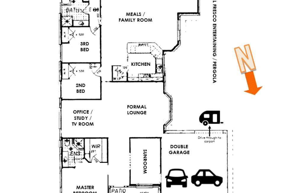 Floorplan of Homely house listing, 3 Tradewinds Avenue, Summerland Point NSW 2259