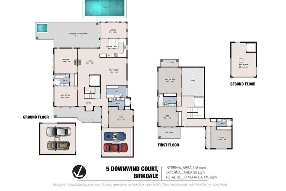 Floorplan of Homely house listing, 5 Downwind Court, Birkdale QLD 4159