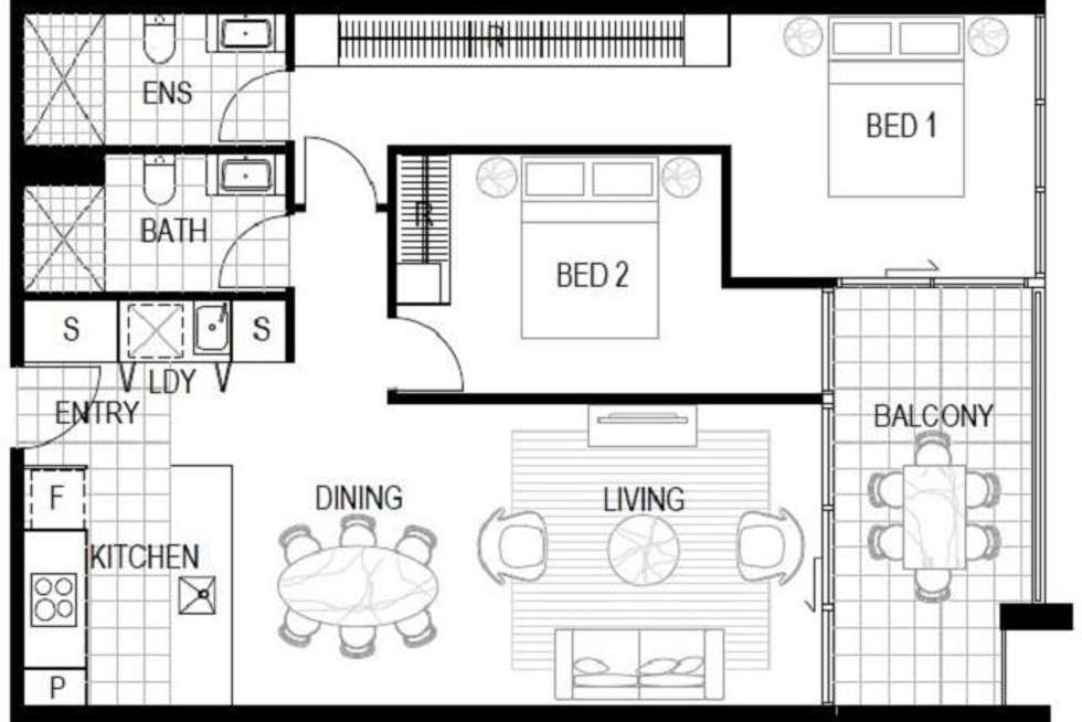 Floorplan of Homely apartment listing, 1 Bondi Avenue, Mermaid Beach QLD 4218