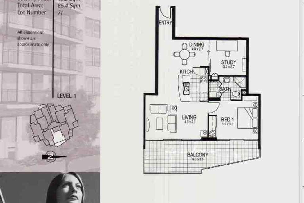 Floorplan of Homely apartment listing, 15 Goodwin Street, Kangaroo Point QLD 4169