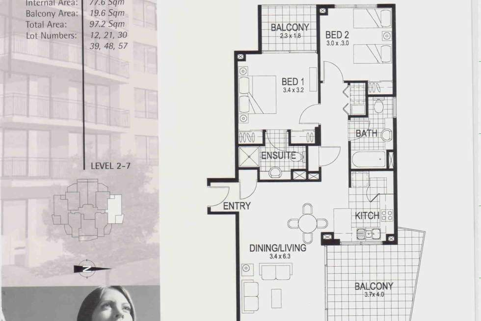 Floorplan of Homely apartment listing, 57/15 Goodwin Street, Kangaroo Point QLD 4169