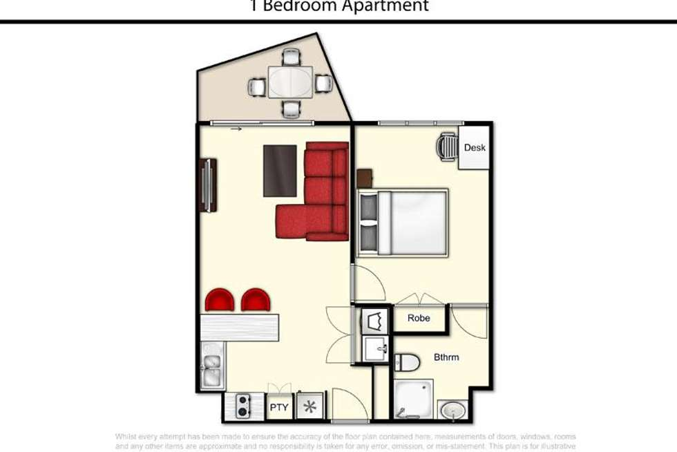 Floorplan of Homely apartment listing, 265/35 Morrow Street, Taringa QLD 4068