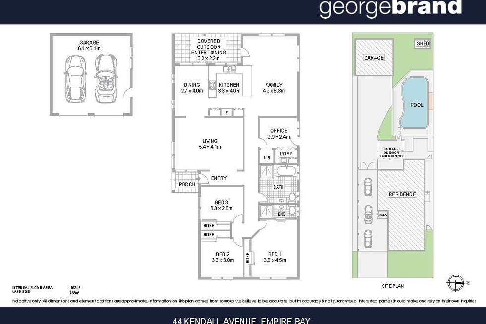 Floorplan of Homely house listing, 44 Kendall Road, Empire Bay NSW 2257