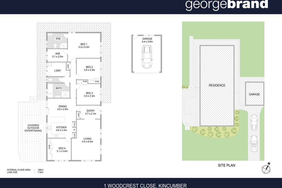 Floorplan of Homely house listing, 1 Woodcrest Close, Kincumber NSW 2251