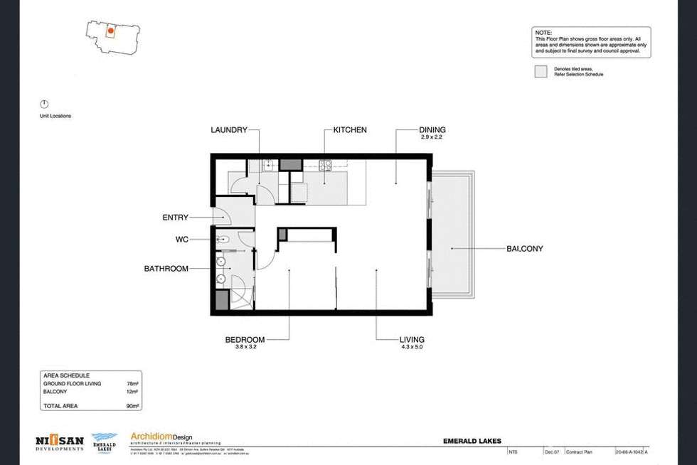 Floorplan of Homely apartment listing, ID:3876862/3030 The Boulevard, Carrara QLD 4211