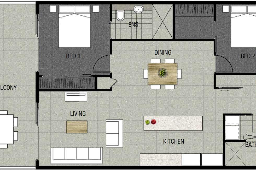 Floorplan of Homely unit listing, ID:21064653/19 Tank St, Kelvin Grove QLD 4059