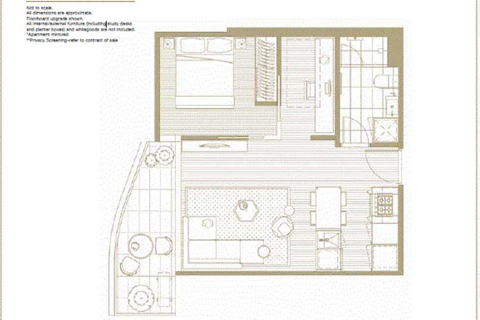 Floorplan of Homely apartment listing, 308/130 Dudley Street, West Melbourne VIC 3003