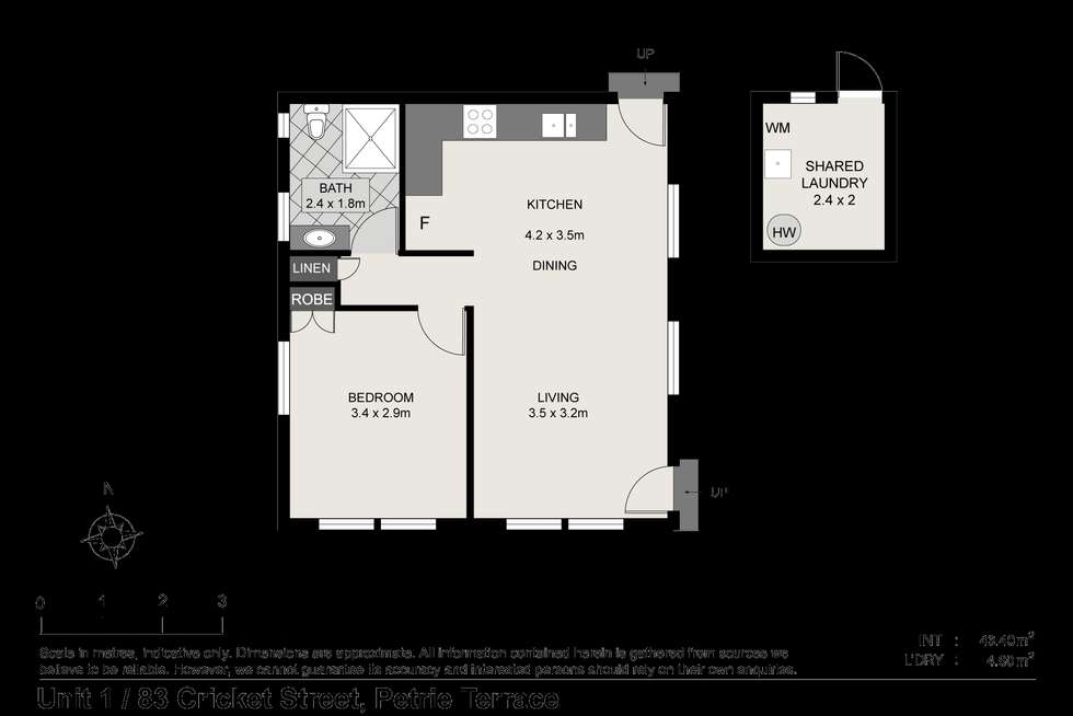 Floorplan of Homely unit listing, ID:21068030/81 Cricket Street, Petrie Terrace QLD 4000
