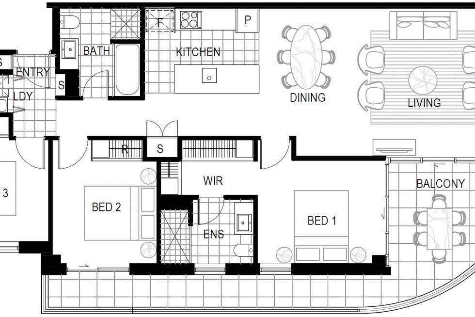 Floorplan of Homely apartment listing, ID:21078161/1 Bondi Avenue, Mermaid Beach QLD 4218