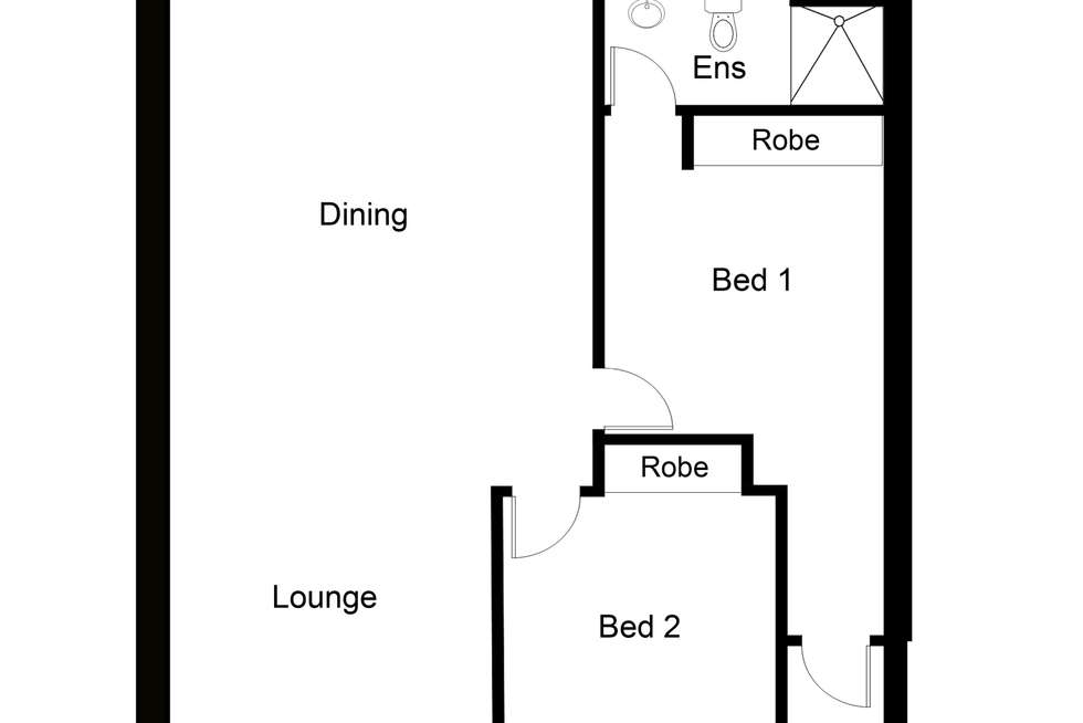Floorplan of Homely apartment listing, 2 The Crossing, Caroline Springs VIC 3023