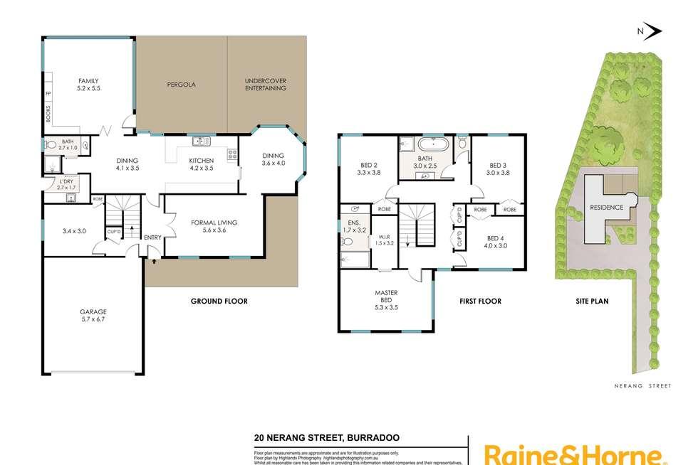 Floorplan of Homely house listing, 20 Nerang Street, Burradoo NSW 2576