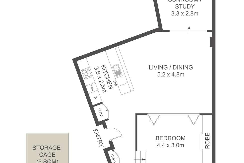 Floorplan of Homely apartment listing, 501/172 Riley Street, Darlinghurst NSW 2010