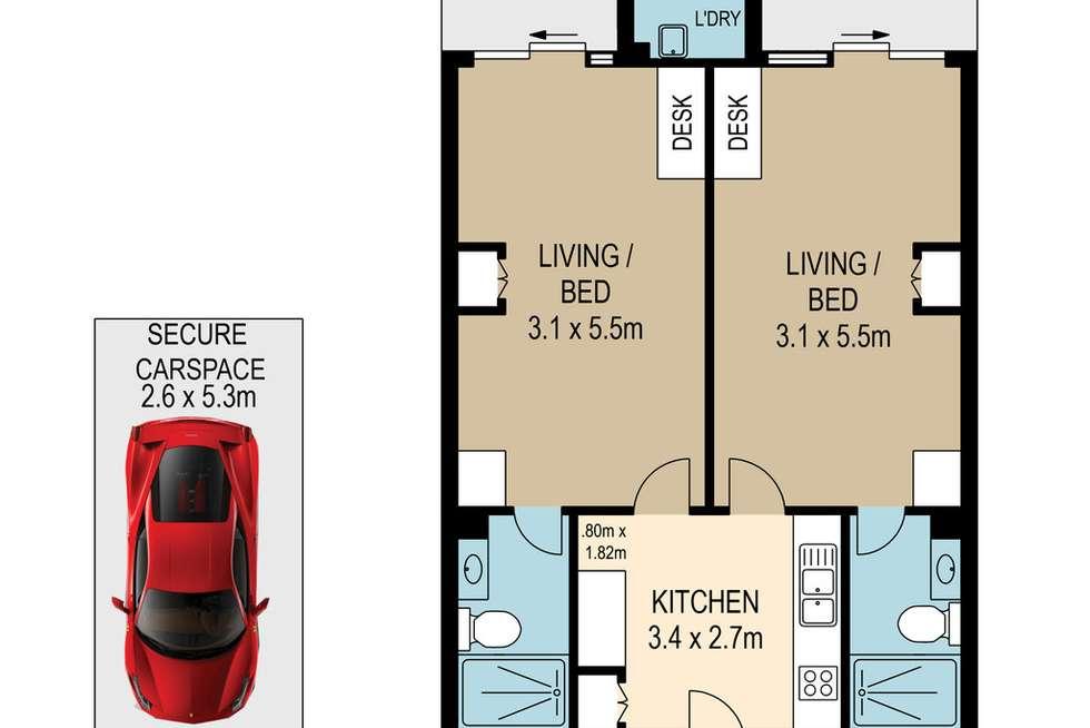 Floorplan of Homely apartment listing, 47/48 Walcott Street, St Lucia QLD 4067